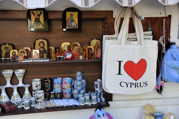 Различные сувениры и сумки Я люблю Кипр