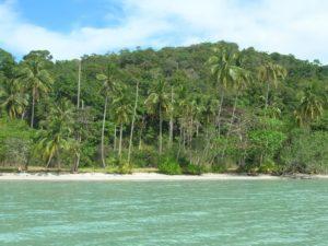 Полукилометровый песчаный пляж на восточном побережье острова Ко Чанг – единственный в своем роде. На пляже очень тихо, ровный берег покрыт белым песком.