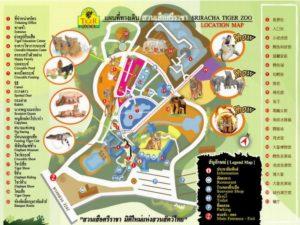 Карта зоопарка Си Рача