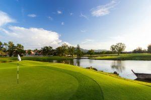 На территории комплекса расположено поле для гольфа мирового класса