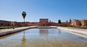 Бассейн во внутреннем дворе дворца Эль Бади