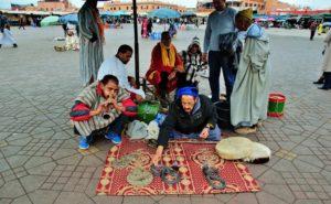 Заклинатели змей на площади Джема эль-Фна