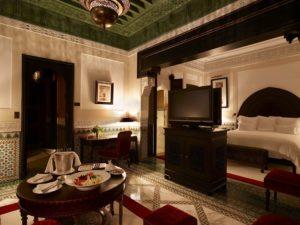 Интерьер отеля в отеле La Mamounia