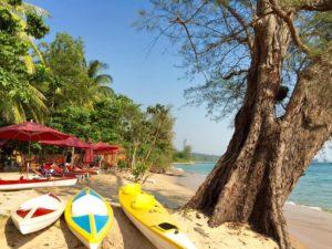 У курортного эко-отеля Wild Beach Phu Quoc собственный пляж.