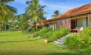 Отель расположен в окружении тропических садов.