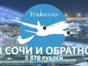 В Сочи и обратно за 5 870 рублей