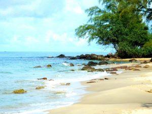 Пляж Ong Lang – это несколько бухт с песчаным побережьем, перемежающихся группами черных, отполированных морем, камней.