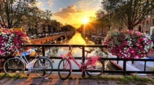 Велосипеды в городе Амстердам