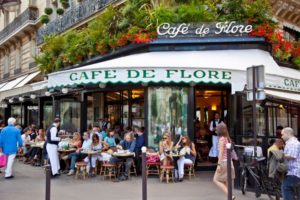 Кафе де Флер, терраса